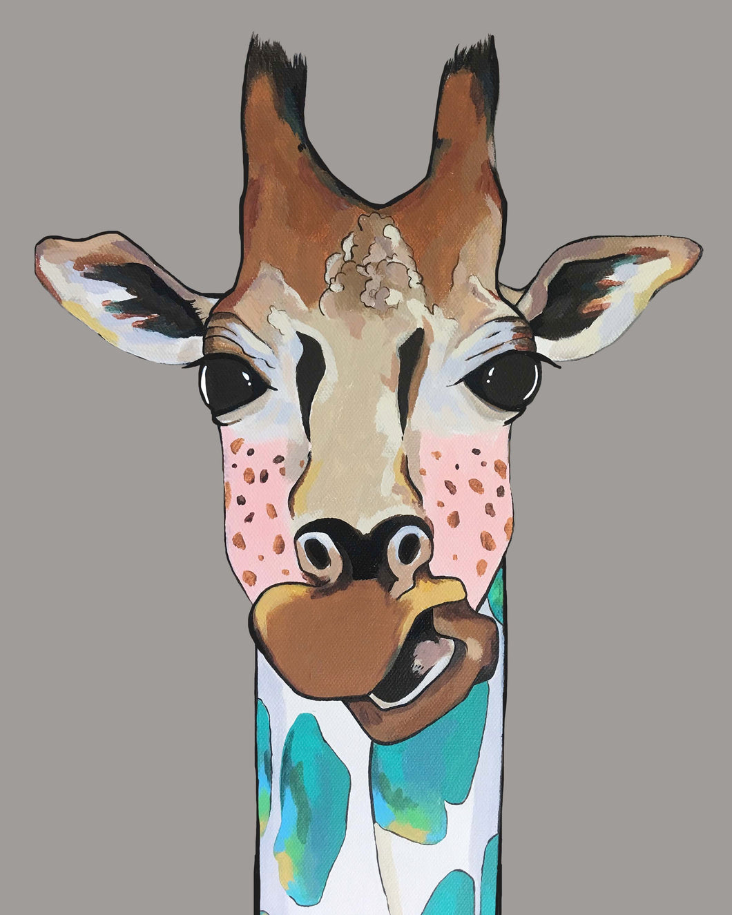 Mary Jane the Giraffe Original Painting
