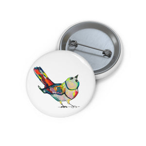 Rainbow Wren Pin Button