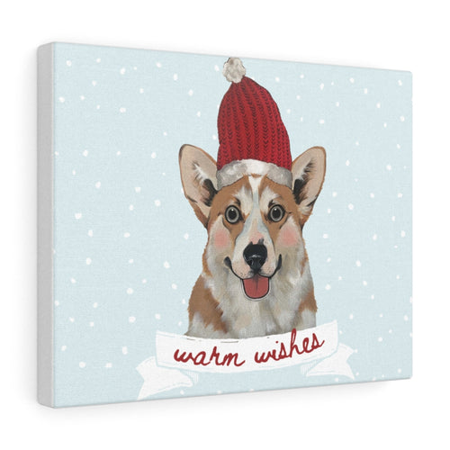 Holiday Pups - Corgi on Canvas Gallery Wrap