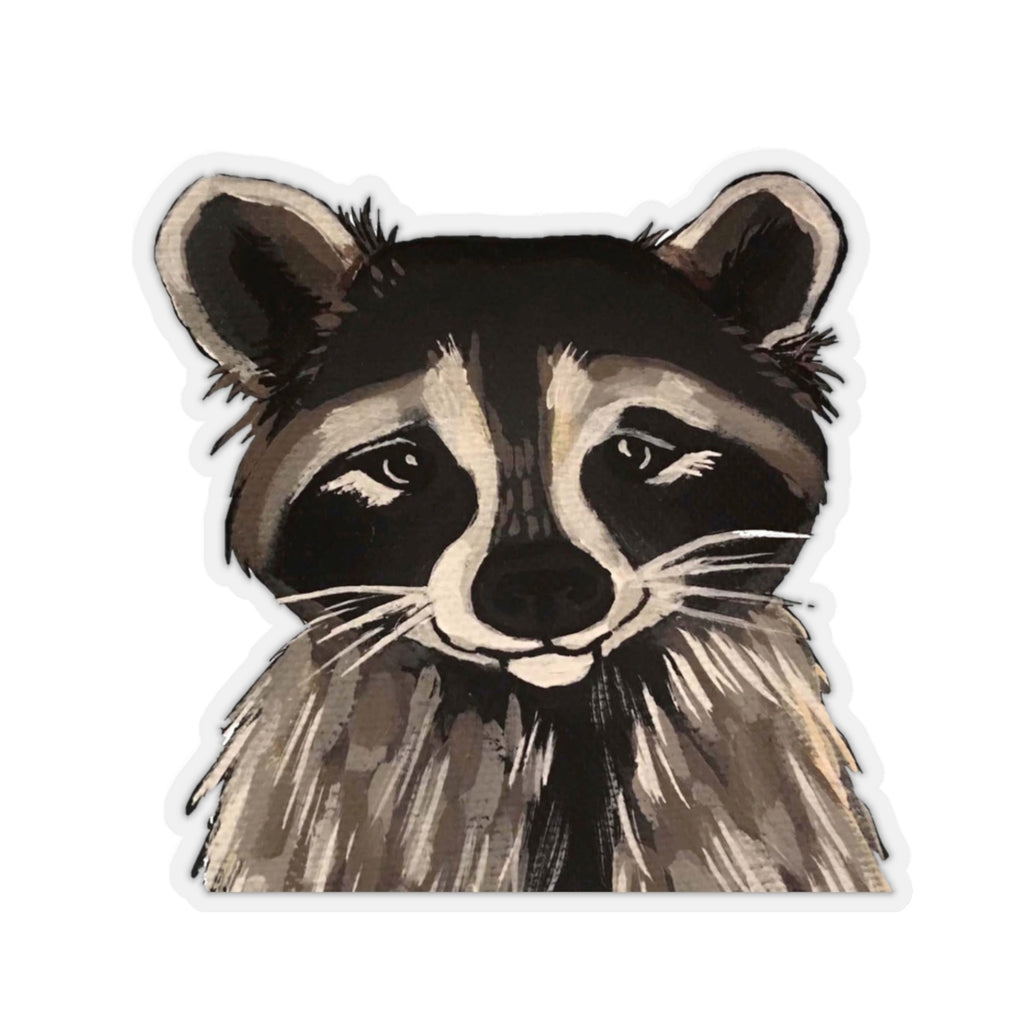 Ricki the Raccoon Kiss-Cut Sticker