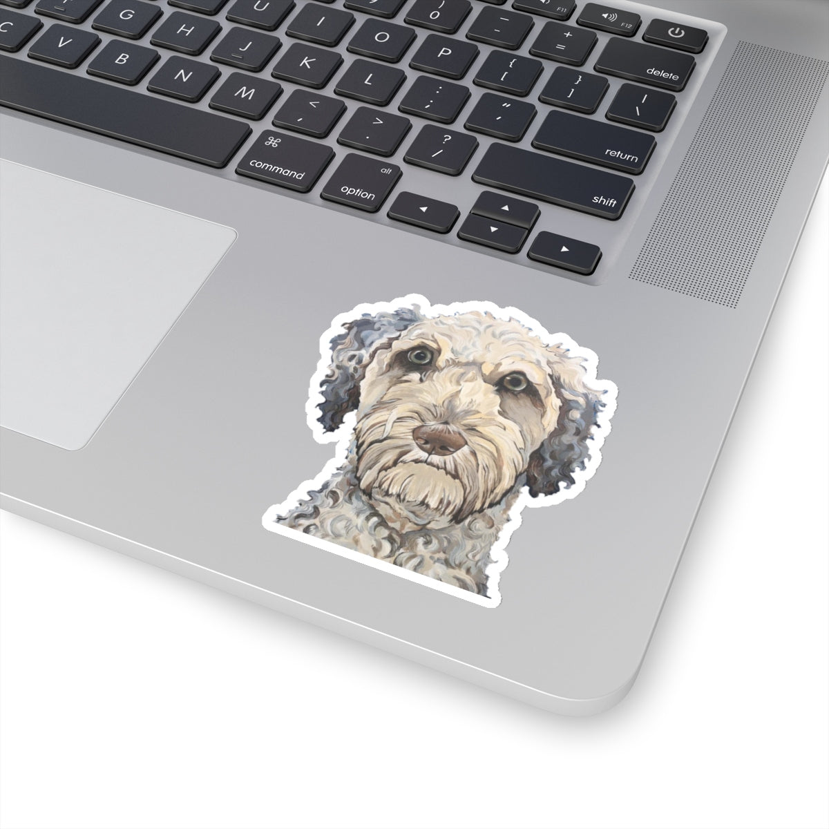 Laddie the Labradoodle Kiss-Cut Sticker