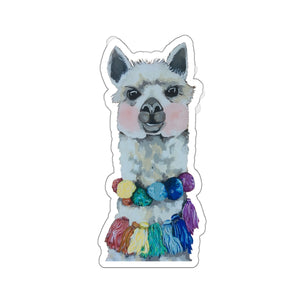 Alexei the Alpaca Kiss-Cut Sticker
