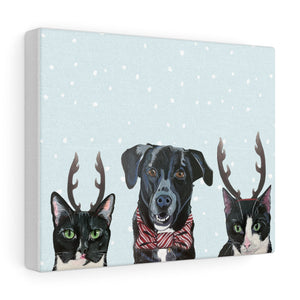 Holiday Pups - Caskey Crew on Canvas Gallery Wrap