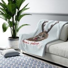 Load image into Gallery viewer, Holiday Pups - 'Doodle Sherpa Fleece Blanket