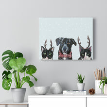 Load image into Gallery viewer, Holiday Pups - Caskey Crew on Canvas Gallery Wrap