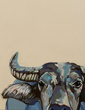 Load image into Gallery viewer, Wally the Water Buffalo Original Painting
