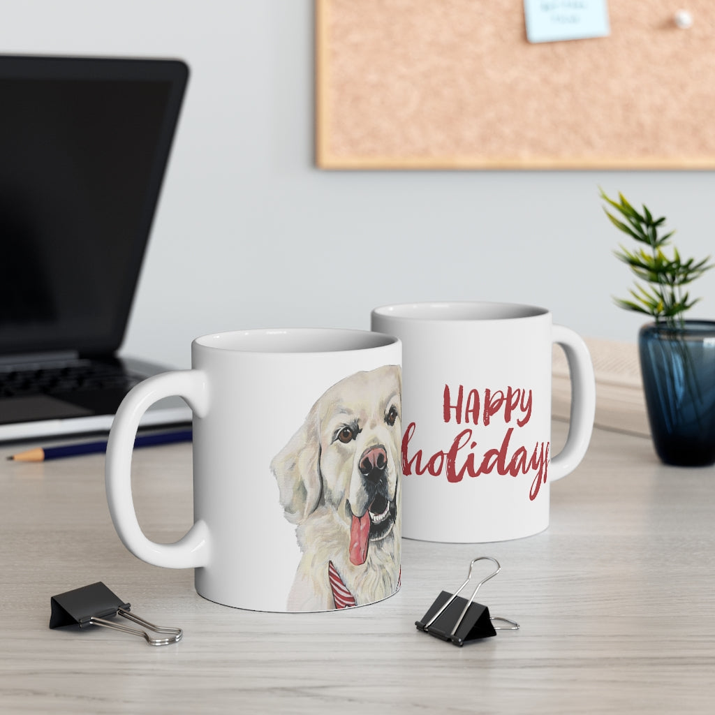 Holiday Pups Mug - Golden Retriever