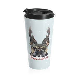 Holiday Pups Stainless Steel Travel Mug - XCII Brothers