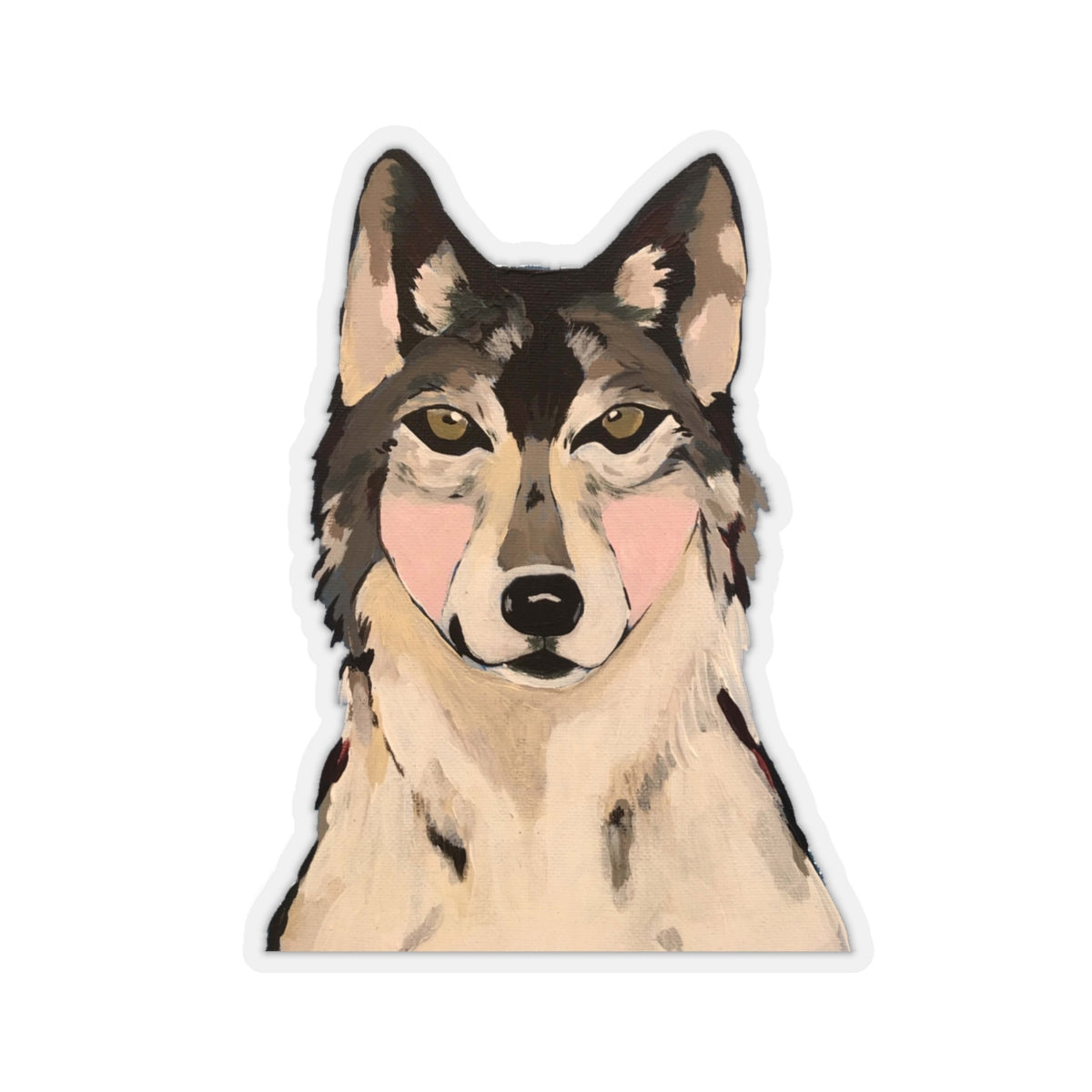 Wanda the Wolf Kiss-Cut Sticker