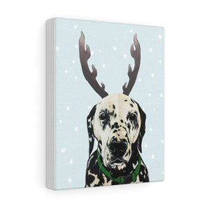 Holiday Pups - Dalmatian on Canvas Gallery Wrap