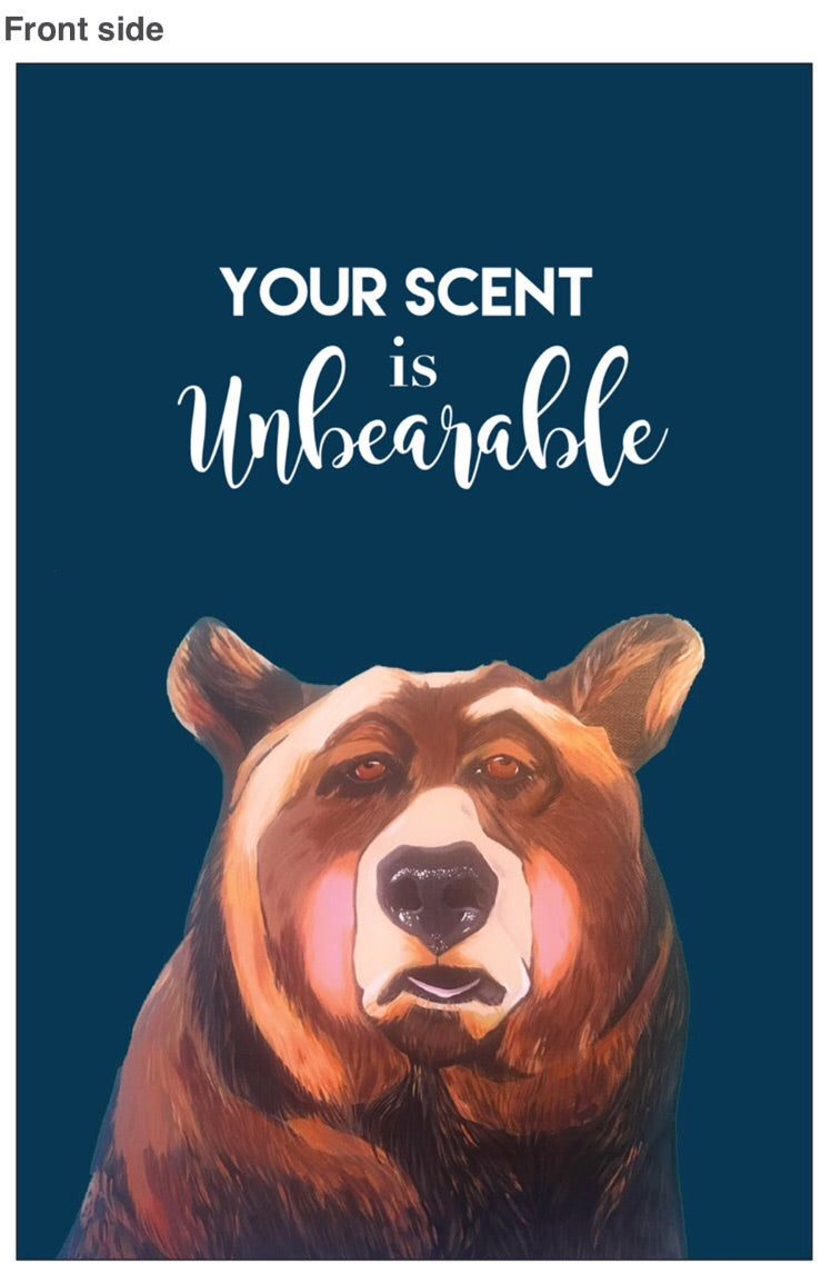 Postcard- Your scent is unbearable
