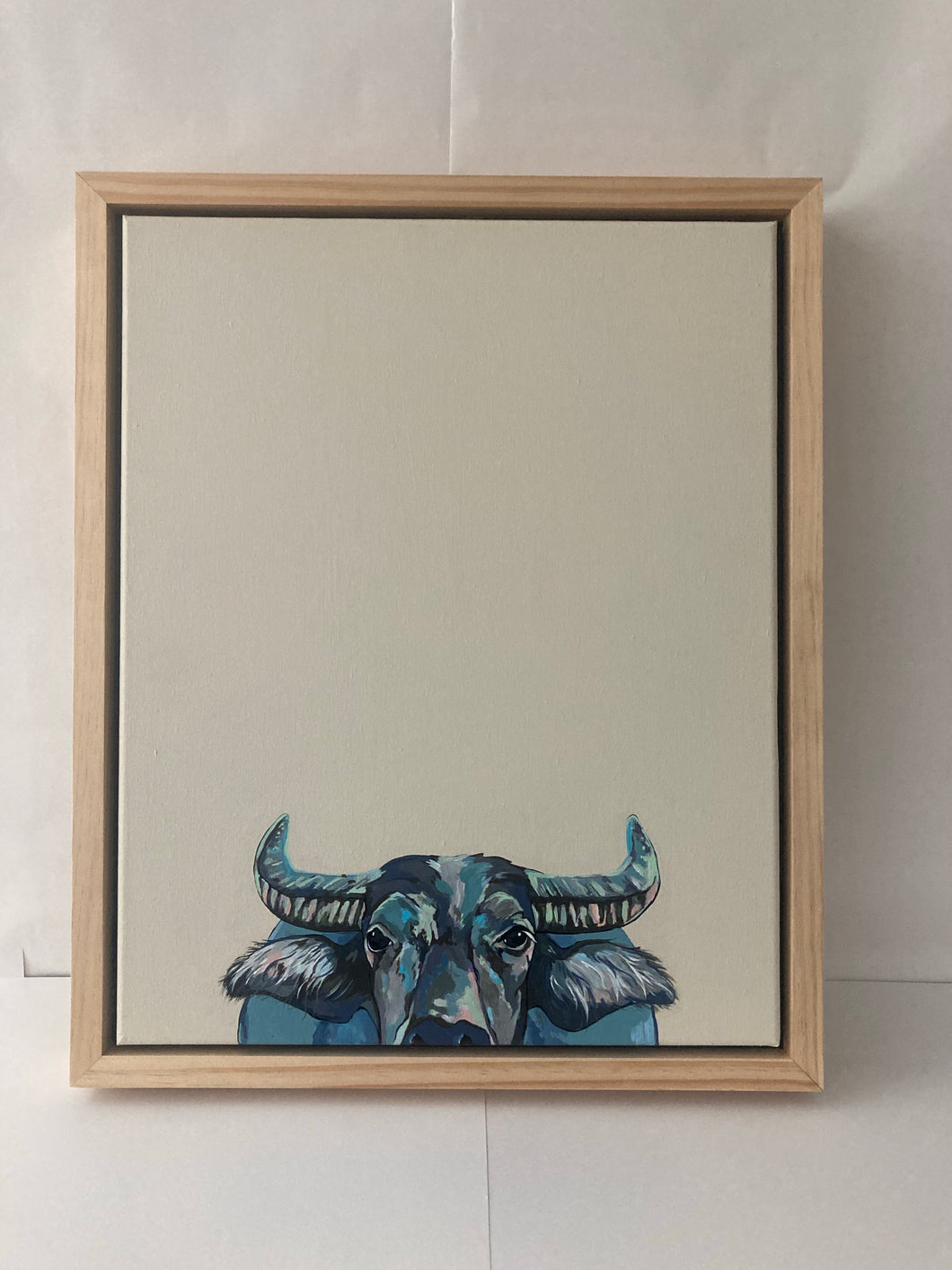Wally the Water Buffalo Original Painting