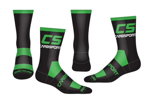 2019 CarbSport Cycling Socks Lime Green/Black