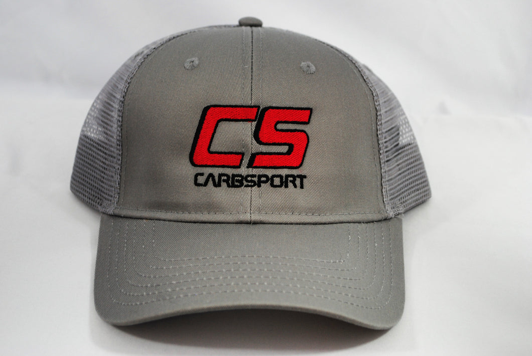 Gray CarbSport Baseball Cap