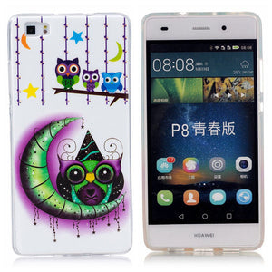 Luminous Case For Huawei P8 Lite Cover Ultra Thin Embossed Soft Silicon TPU Gel Glow Phone Cases For Huawei Ascend P9 Lite Shell