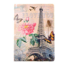 "Luxury Stand Wallet Cover For ipad 5 6 Case Fashion Floral Tower Pattern Leather Flip For ipad air 2 Capa 9.7"" PC Tablet Protect"