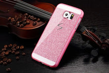 New style glitter powder bling Hard Plastic back cover Luxury fashion Sparkle Personality Logo Phone case for Samsung Galaxy S6