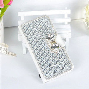Top Quality  3D Bling Crystal Rhinestone Flip Phone Leather Fashional Diamond Cover Luxury Phone Case For Samsung S III I9300