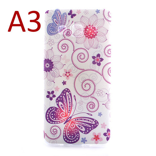 Ultra Thin Soft TPU Silicon Back Cover Beautiful Dandelion Paris tower butterfly Pattern Phone Cases For Samsung Galaxy A3 A3000