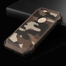 Navy Army Camouflage Pattern Phone Cases For iphone 5 5S SE 6 6S / Plus 2 in 1 Hard Plastic + Soft TPU Back Cover Shell Case