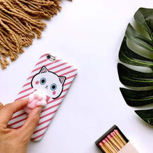 3D Cute Squishy Cat Phone Cases for iPhone 7 6 6S Plus