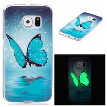 Luminous Cover For Samsung Galaxy S6 S7 edge S5 Case Ultra Thin Slim Clear Soft TPU Silicone GEL Phone Cases Embossed Light Capa