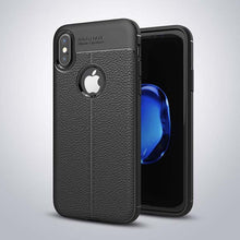 Luxury PU Leather Phone Cases For iphone X Case Fashion Litchi Texture Soft TPU Back Cover For iphone 10 Fitted Cases Capa Coque