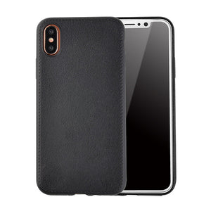 Fashion Litchi Texture Phone Cases For iphone X Fitted Cases Luxury PU Leather Soft TPU Back Cover Durable Shockproof Armor Case