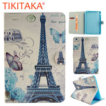 Luxury Stand Wallet Leather Flip For Apple iPad mini 1 2 3 Case Fashion Butterfly Tower Pattern Tablet PC Protector