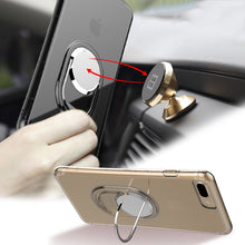 Ultra Thin Clear TPU Cover For iphone 8 7 6 6s Plus Case Luxury Magnetic 360 Rotation Car Holder Stand Phone Cases + Kickstand