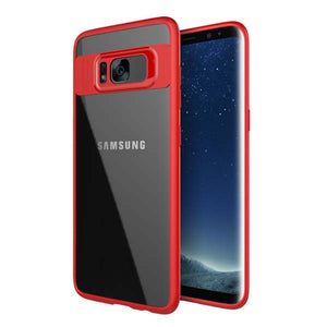 Full Protective Case for Samsung Galaxy S8 S8 Plus Fitted Cases Ultra thin TPU & Acrylic Slim Transparent Back Cover Phone Shell