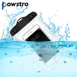 Powstro waterproof phone bag Universal Mobile Phone Bag Swimming Case Easy Take Photo Underwater For iPhone Samsung HUAWEI LG