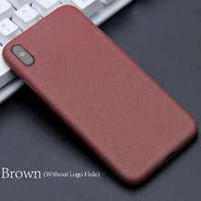 Fashion Litchi Texture Phone Cases For iphone X Cover Luxury Ultra thin PU Leather Soft TPU Shockproof Armor Case Business Style