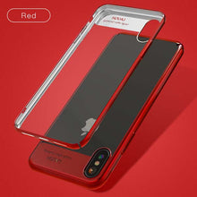 Ultra Thin Phone Cases For iPhone X Fitted Cases Transparent Plating PC Hard Full Protective Shockproof Armor Case Clear Cover