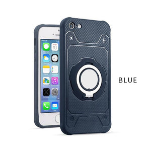 Phone Cases For iPhone 7 6 6s Plus 5 5s SE Cover Magnetic Suction Bracket Car Holder Stand Finger Ring Kickstand PC + TPU Case