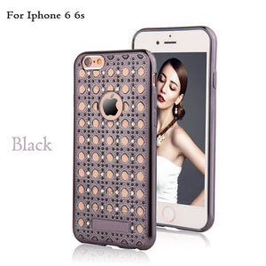 Luxury Agate Case For iPhone 6 6S Plus Fashion Bling Diamond Crystal Soft TPU Gel Back Cover Ultra Thin Shockproof Phone Cases