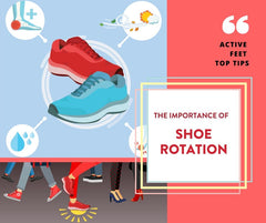 The importance of shoe rotation -    Rotate your footwear to ensure you are changing up the forces on your body. This way you will load your muscles differently to prevent overuse or underuse of muscles and give stressed areas of your body a break.