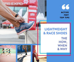 Lightweight & Race Shoes - The How, When & Why! Your top Lightweight shoe questions answered!   Whether you are a pro or an enthusiast – knowing which shoes to wear when and why can be very confusing! As we welcome the warmer weather, we also usher in the running event season. And there's never been a better time to decode the mystery that is – the lightweight running shoe