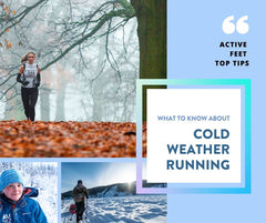 Cold Weather Running Tips - to help you battle the winter blues and keep your running goals on track we spoke to podiatrist David Hudson to get his best tips and tricks to keep you moving no matter how low the temperature goes!