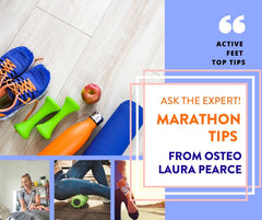 Marathon Tips from Osteo Laura Pearce - Training, preparing and listening to your body is key in ensuring you get to the end of your 42km in one piece - mentally and physically!