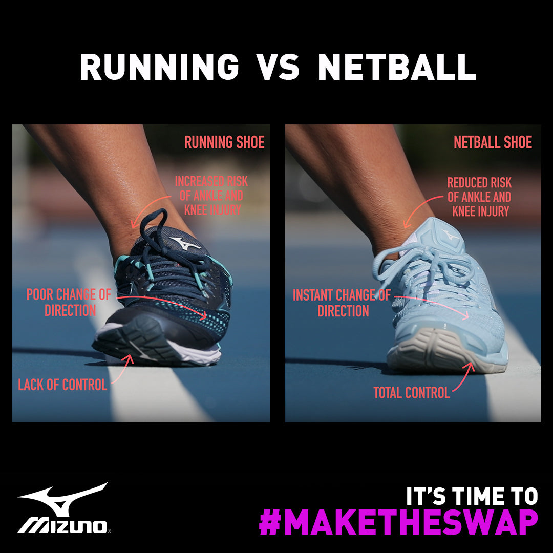 Running VS Netball Shoes