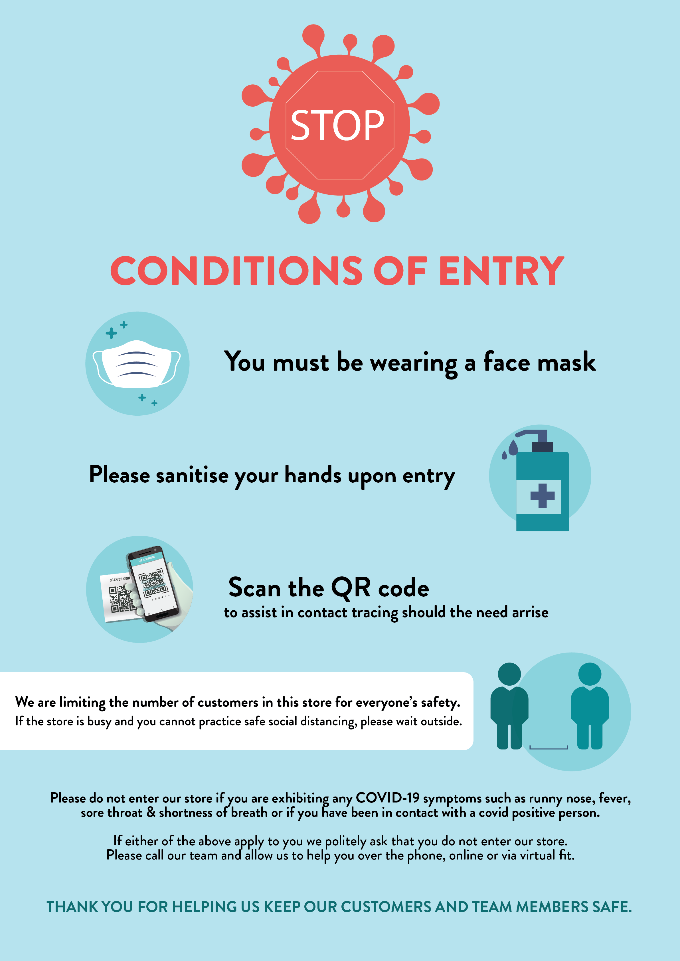 CONDITION OF ENTRY