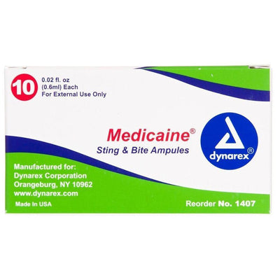 Medicaine Sting Relief Swabs