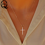 Elegant Gold Cross Pendant Necklace