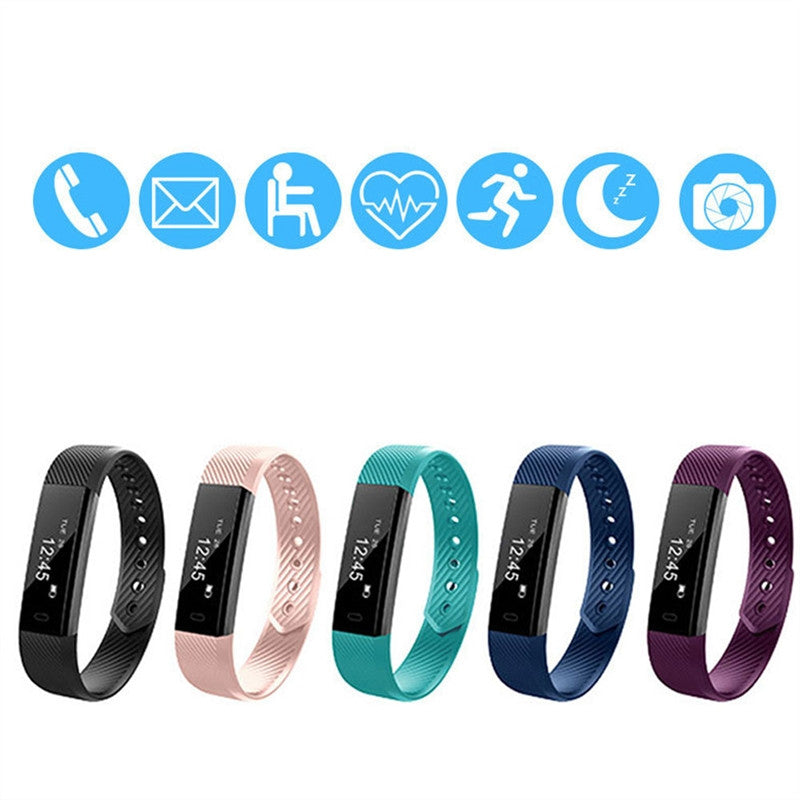 Bluetooth Smart Wristband - Stylish Fitness Tracker