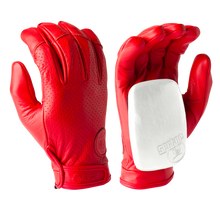 Driver II Gloves - 100% Perforated Leather W/ Palm Pucks Red