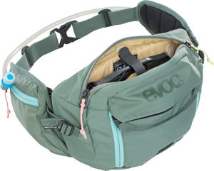 Evoc Hip Pack 3 Liter bike hydration hip pack olive green Open top zipper