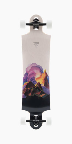 Landyachtz Switchblade 38 inch Drop Down Through Downhill Freeride Longboard Complete Crown Peak
