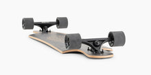Landyachtz Drop Hammer Black Pinecone Longboard Complete Bottom View On Floor