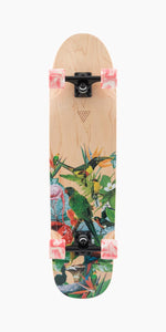 Landyachtz Rally Cat Paradise Longboard Complete bottom veiw